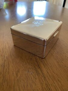 Excellent Sterling Silver Box With Scottish Highlanders Emblem 4th Battalion