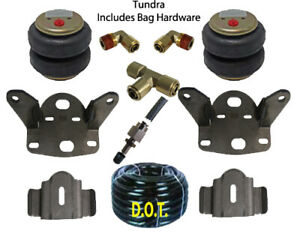 Air Tow Assist Load Level Kit No Drill Fits 2007 2021 Toyota Tundra 2wd 4wd