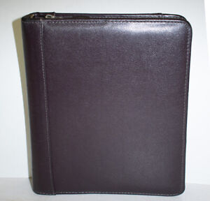 Franklin Covey Top Grain Cowhide Leather Planner Binder Maroon Classic