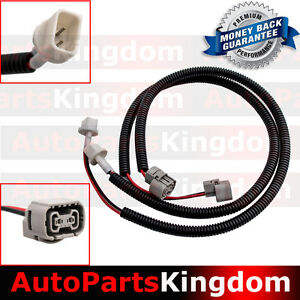 2x 24 Fog Light Extension Cable Wire Harness With Cover For 10 17 Jeep Wrangler