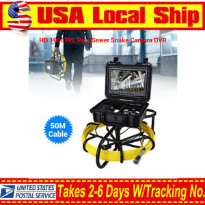 9 164ft Pipeline Endoscope Inspection Waterproof 1000tvl Sewer Camera Dvr 8gb