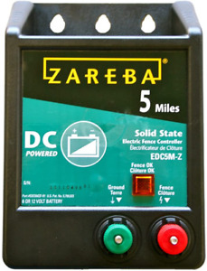 Zareba Edc5m z 5 mile Battery Operated Solid State Electric Fence Charger