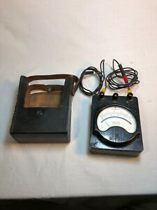 Westinghouse Ac Volt Meter Electrical Instrument Vintage Model Pa 14