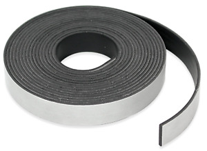 Strong Magnetic Strip Tape 1 2 Inch Flexible Roll n cut Adhesive Sticky Back New