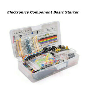 Electronic Component Kit W Power Module Jumper Wire 830 Tie points Breadboard