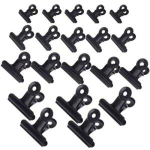 5pcs Bulldog Letter Clips Stainless Steel Metal Paper File Binder Clip Office Y