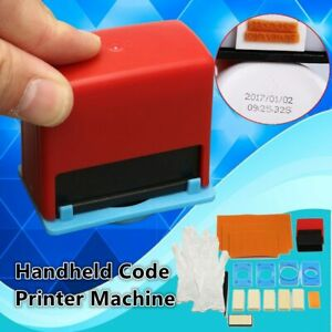 Handheld Manual Coding Tool Date Number Printing Machine Pad Printer Tools Set