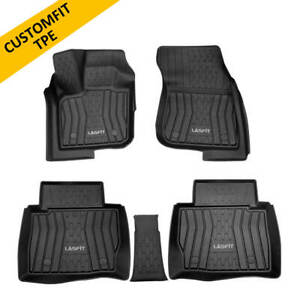 Car Floor Mats For Lincoln Mkz 2017 2020 Custom Front rear Row Black All Weather