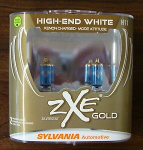 Sylvania Silverstar Zxe Gold H11 2 Halogen Lamps High End White New Sealed