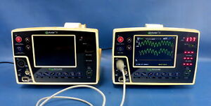 Lot Of 2 Criticare Scholar Iii 507 El Patient Monitors W 1x Ac Adapter Leads