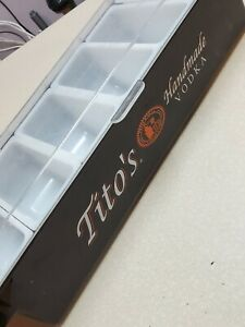 Collectable Tito s Handmade Vodka Bar Condiment Tray Holder Container 6 19inch