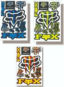 Stickers Fox Racing Monster For Motorcycles And Bikes Usa Shipping