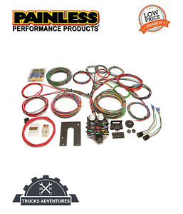 Painless Wiring 10104 21 Circuit Classic Customizable Pickup Chassis Harness