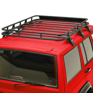 Cargo Rack Rooftop With Wind Deflector Fit 84 01 Jeep Cherokee Xj