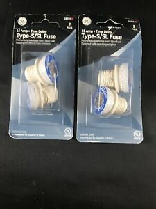 Lot Of 2 Ge Type S sl Time Delay Fuse 15 amp 2 pack 18255