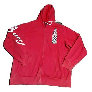 Red Coca-Cola Hoodie Xl 46/48 Logo Print Collectible