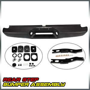For 1995 2004 Toyota Tacoma Pickup Black Complete Rear Steel Bumper Assembly