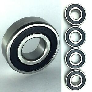 6204 2rs Premium Rubber Sealed Ball Bearing 20x47x14 6204rs 4 Pack