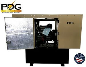 21 Kw Diesel Generator Perkins Enclosed With 100 Gallon Fuel Tank Auto Start