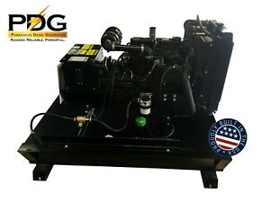 21 Kw Diesel Generator Mitsubishi With 50 Gallon Tank Emergency Standby Genset
