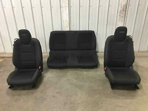 Set Of Front Rear Black Electric Cloth Seats 2012 2015 Chevrolet Camaro Oem