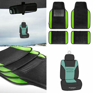 4pc Carpet Floor Mats Universal Fitment For Car Truck Suv Green W Free Gift