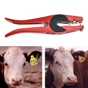 Multi Ear Marking Tag Applicator Plier Veterinary Instrument Tool For Sheep Gy