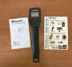 Raytek Raynger St 2l Infrared Thermometer With Owners Manual
