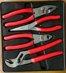 Snap On Tools 4 Piece Pliers Cutters Set Pl400b Mint