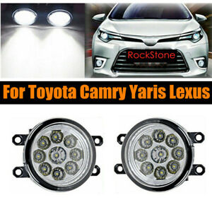 Pair Of 9 Led 36w Fog Light Driving Lamps Rh Lh Fit For Camry Yaris Lexus
