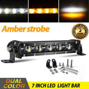5 Inch Pods Strobe Led Work Light Spot Off Road Driving Fog Lamp 4wd Atv Suv