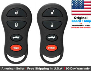2x Oem Keyless Entry Remote Key Fob For Chrysler Dodge Jeep Gq43vt17t