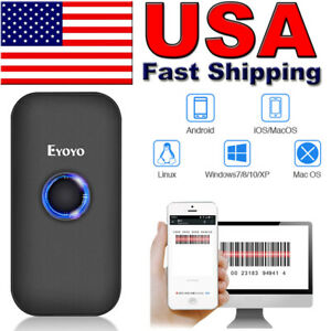 Eyoyo Mini Ccd Bluetooth Barcode Scanner 1d Image Screen Scanning Reader For Pc