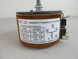 The Superior Electric Company Type 10c Powerstat Variable Transformer