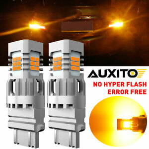 Auxito Error Free 3157 3757 3457a 4157 Amber Turn Signal Blinker Led Light Bulbs