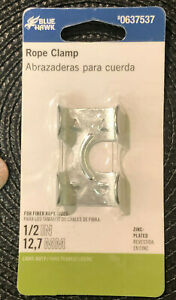 Blue Hawk Zinc Plated Rope Clamps 1 2in Light Duty 0637537