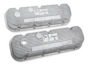 Holley M t Valve Covers Natural Finish Vintage Style For Chevy Big Block Engines