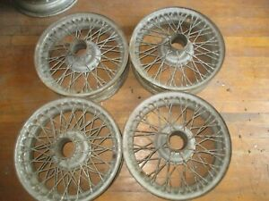 Set Of4 48 Spoke 16x5 Wire Wheels Triumph Tr2 Tr3 Tr4 Healey 100 4 Mg Td Tf Mga