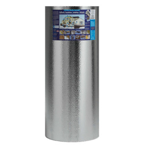 Double Bubble Reflective Foil Insulation Roll Floor Attic Wall Thermal Barrier