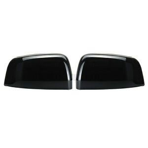 Glossy Black Abs Side Mirror Cover Caps For Jeep Grand Cherokee For Dodge Us