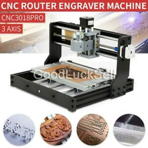 Cnc 3018 Pro Engraving Machine Mini Diy Wood Router Grbl Control W 2500mw Laser