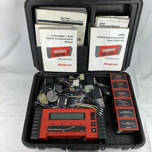 Snap on Mt2500 Scanner Tool W Extra Accessories Cartridges Keys