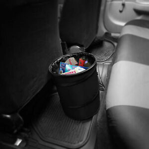 Auto Car Trash Can Portable Collapsible Waterproof Large Black