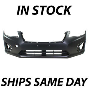 New Primered Front Bumper Cover Replacement For 2012 2013 2014 Subaru Impreza