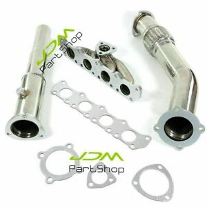 Turbo Exhaust Manifold decat Downpipe For 99 05 Vw Jetta beetle golf Mk4 1 8l