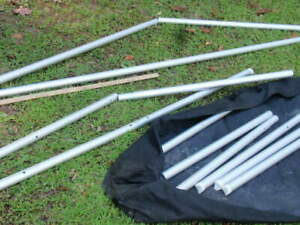 Lot Of Moss Aluminum Trade Show Poles Case Display Business Booth Set Up