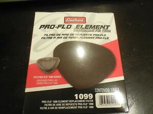 New Edelbrock Pro flo Replacement Air Filter 1099 Pro flo 1000 Series