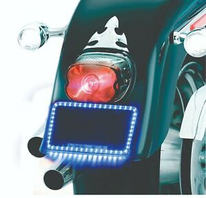 Led Lighted License Plate Frame For Motorcycle Usa Shipping