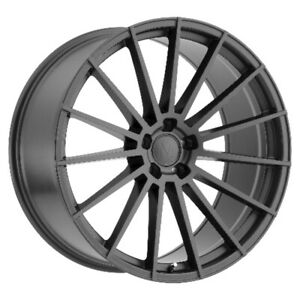 Mandrus Stirling Rims Wheels For Mercedes 17x8 5x112 Gloss Gunmetal Qty4