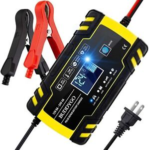 Car Battery Charger 12v 24v Volt Motorcycle Battery Repair Type Agm Charger Us